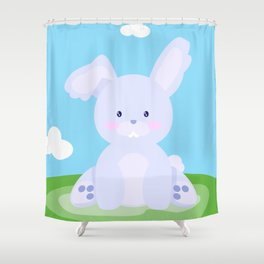 Bunny in country Shower Curtain