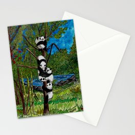 Six Baby Pandas in a Tree Stationery Cards
