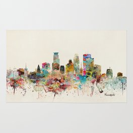 minneapolis minnesota skyline Rug