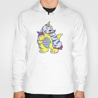 digimon Hoodies featuring gabu by tinypuppyprince