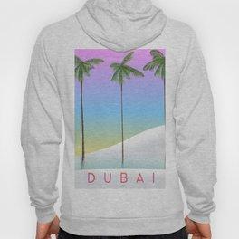Dubai desert and palms travel poster Hoody