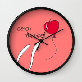 Catch my heart Wall Clock