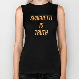 Spaghetti is truth Biker Tank
