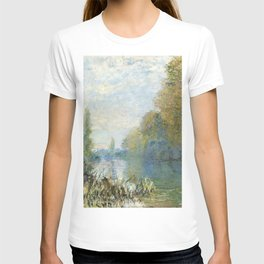 The Banks of The Seine in Autumn by Claude Monet T-shirt