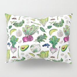 Superfood Pattern Pillow Sham