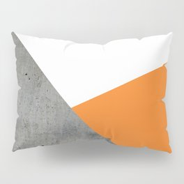 Concrete Tangerine White Pillow Sham