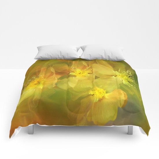 Early Morning Floral Abstract Comforters