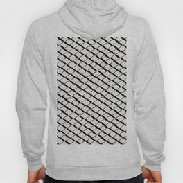 Modern Diamond Lattice 2 Black on Light Gray Hoody