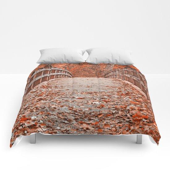 Ruby Red Bridge Comforters