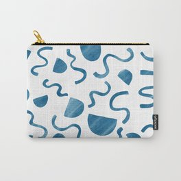 Squiggles and shapes in blue Carry-All Pouch