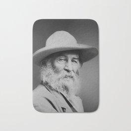 Walt Whitman Portrait Bath Mat