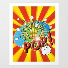 corncob with leaves - POP! - Art Print