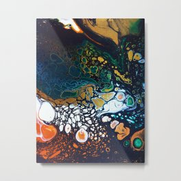Malachite -- Abstract Painting Metal Print