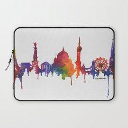 Rainbow Watercolour Monuments Laptop Sleeve