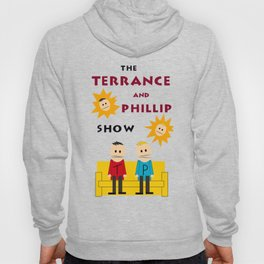 The Terrance and Phillip Show Poster on T-shirt Hoody