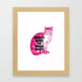 Women's March Cat Framed Art Print