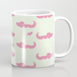 Modern pastel green pink cute funny crocodile Coffee Mug