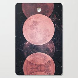 Pink Moon Phases Cutting Board