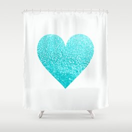 AQUA HEART Shower Curtain