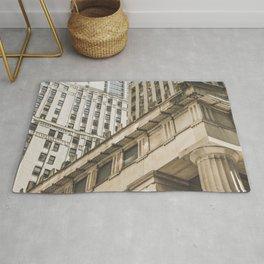 Federal Hall, New York photos, I love NY, Wall street, fine art photo Rug