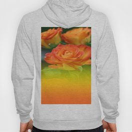 YELLOW ROSES WITH ORANGE TIPS Hoody