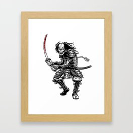 Zombie Samurai Framed Art Print