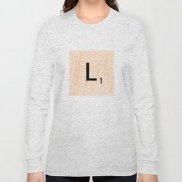 Scrabble Letter L - Large Scrabble Tiles Long Sleeve T-shirt