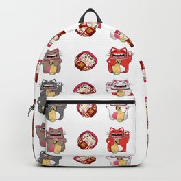 Colorful Maneki - neko pattern design Backpack