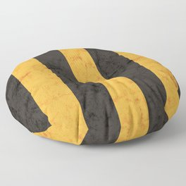 Black and Gold House Colours Floor Pillow