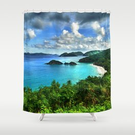 Caribbean Beach Trunk Bay, St. John Shower Curtain