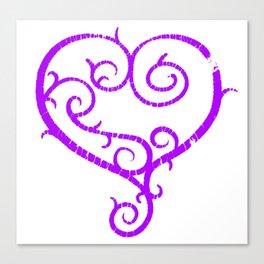 GO. LIVE. NOW. heart logo Canvas Print