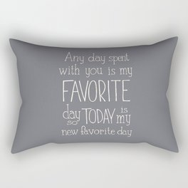"Winnie the Pooh quote  ""FAVORITE"" Rectangular Pillow"