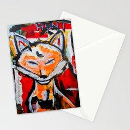 Happy Fox - The Hunt - Original Painting - Marina Taliera Stationery Cards