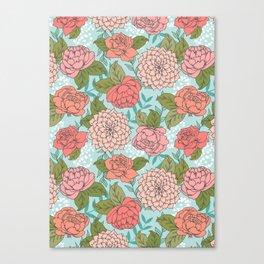 Spring Floral Pattern Canvas Print