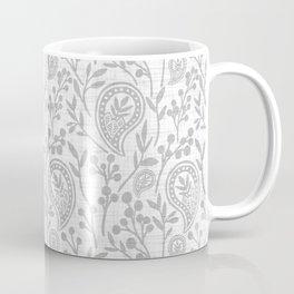 Floral Paisley Light Gray Coffee Mug