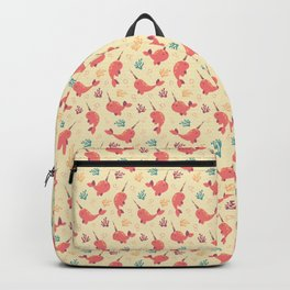 To the Window to the Narwhal - Coral & Cream Backpack