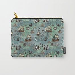 Pirate Ships Nautical Map Carry-All Pouch