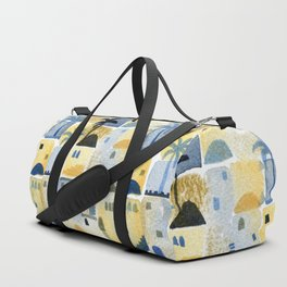 Morning Middle Eastern Town Watercolor Duffle Bag