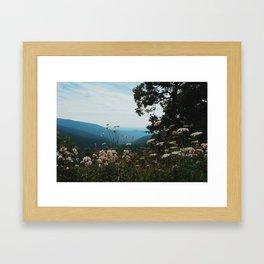 Blue ridge mountains Framed Art Print