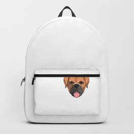 Love German Boxer Dog Backpack