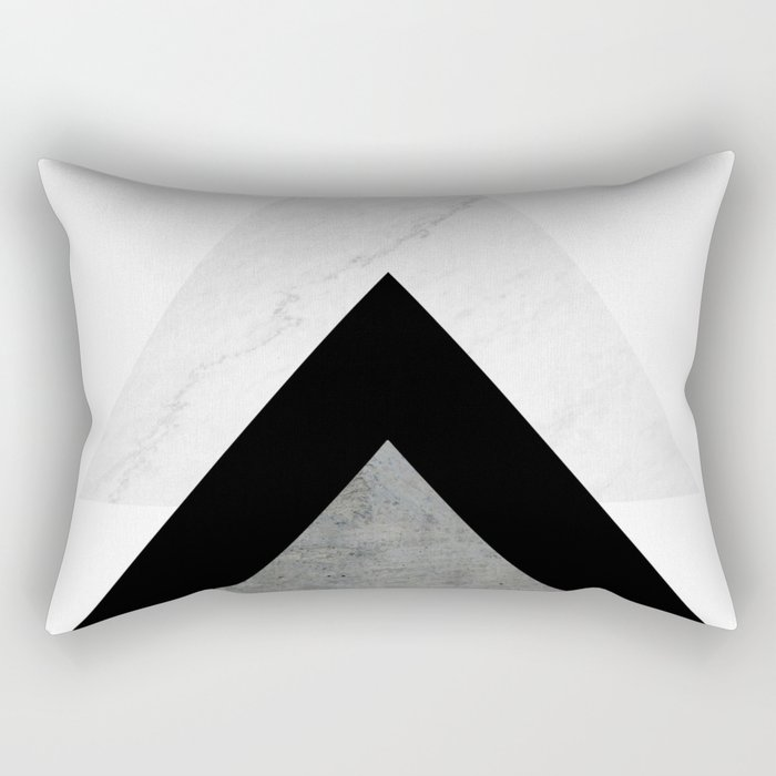 Arrows Monochrome Collage Rectangular Pillow