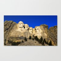 rushmore Canvas Prints featuring Mount Rushmore  by Brett Knight