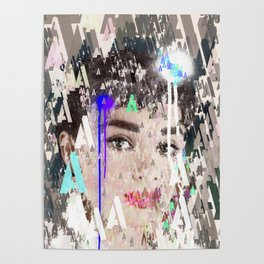 Audrey Type Abstract Art Poster