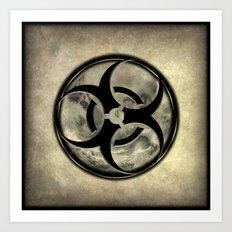 Toxic Biosphere - Vintage sepia vesion Art Print