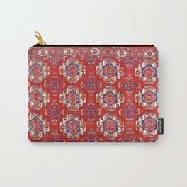 Tekke Torba Antique Turkmen Tribal Rug Print Carry-All Pouch