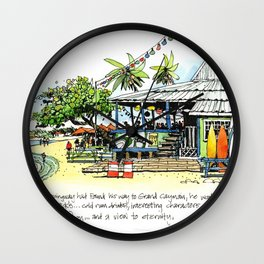 Calico Jack's, Grand Cayman (with notes) Wall Clock