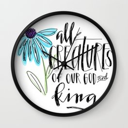all creatures Wall Clock