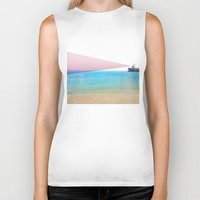 ship Biker Tanks featuring ship by ONEDAY+GRAPHIC