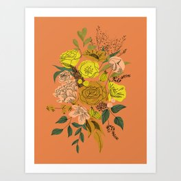 Queen's Autumn Bouquet Art Print