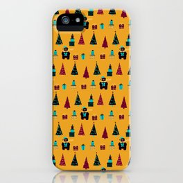 Polar Bears, Christmas Trees, and Presents! (Pattern) iPhone Case